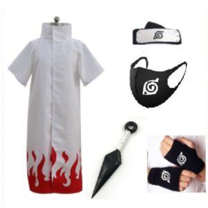 Cosplay – Costume de Ninja Uzumaki, Cape d'halloween pour hommes, Costume de Cosplay, 4e 6e Hokage, S-XL 1