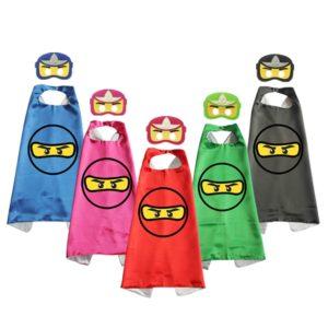 Cape de Costume Ninja pour enfants, avec masque en feutre, cape de noël, pâques, Halloween, fête d'anniversaire 1