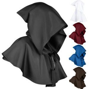 Cape à capuche pour homme et femme, Cape de faucheuse, Cosplay chrétien, Costumes d'halloween, de baptême, Steampunk médiéval 1