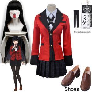 Chaussures de Cosplay Jabami Yumeko Kakegurui, Cosplay compulsif, Costume et perruques, Costumes de fête d'halloween pour femmes 1