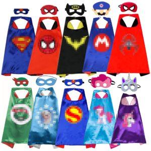 Cape de princesse pour Halloween, 70cm, Costume de Cosplay, super-héros, masque pour enfants, fête de carnaval, licorne, Animal 1