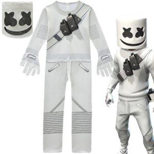 CosplayDJ – cent grandes sylables électroniques, bande de barbe à papa, Marshmello, vêtements une pièce pour garçons, vêtements de spectacle d'halloween 1