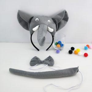Bandeau éléphant pour enfants et adultes, accessoires de Cosplay, queue de cravate, Costume d'halloween pour enfants, cadeau d'anniversaire, noël, carnaval 1