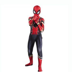 Combinaisons de Cosplay Spider pour enfants, Costume d'halloween, super héros Peter Parker, Costume de Film et de télévision 1