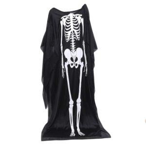 Cape de crâne pour garçons et filles, Costume d'halloween pour adultes et enfants, Robe Cosplay de mort, Robe de Performance fantôme 1