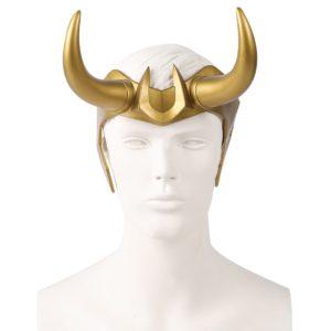 Casque de Cosplay de super-héros Loki en Pvc, coiffe du dieu du mal, Costume de carnaval d'halloween, accessoires de scène, bandeau pour adultes 1