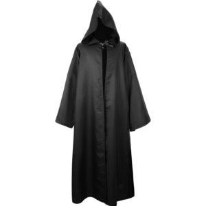 Cape à capuche unisexe pour Halloween, cape, Costume de Cosplay, vampire, fête de faucheuse, noir 1