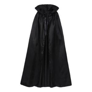 Cape gothique à capuche pour adultes, Cosplay, elfe, sorcière, carnaval, Halloween, longues Capes, Robe Larp, femmes, hommes, vampire, fête de faucheuse 1