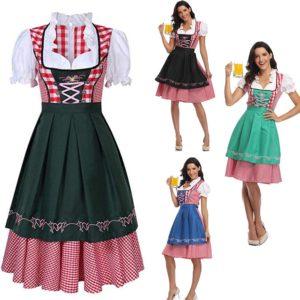 Costume à carreaux rose pour femmes, tenue de soirée fantaisie pour carnaval Halloween, Costume de club à carreaux, nouvelle collection 1