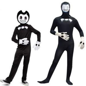 Combinaison de carnaval pour enfants garçons, Costumes d'halloween, Cosplay, Anime, jeu de rôle, déguisement, masque, ensemble body 1