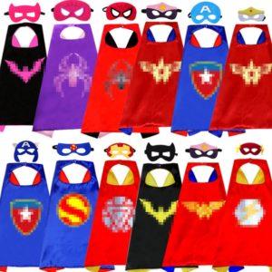 Capes de Super-héros Anime Cosplay, 70cm, masques, Spider-Man, chauve-souris, Iron Man, déguisement de fête pour enfants garçons et filles, princesse licorne 1