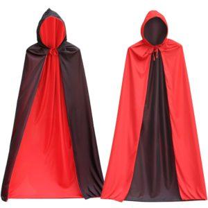 Cape de Vampire pour Halloween, col montant, réversible, pour enfants et adultes, Costume de fête à thème, Cosplay, hommes et femmes 1