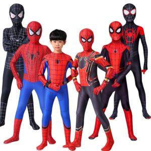 Cosplay Spider- Man Iron Spider- Man, Costume d'halloween incroyable Peter Parker Zentai, combinaison de super-héros pour enfants et adultes 1