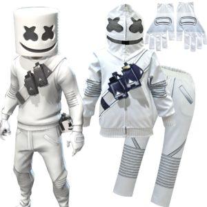 Cardigan à fermeture éclair pour enfants, vêtements Cosplay, Costume d'halloween, veste à capuche drôle, Costume de spectacle DJ 1