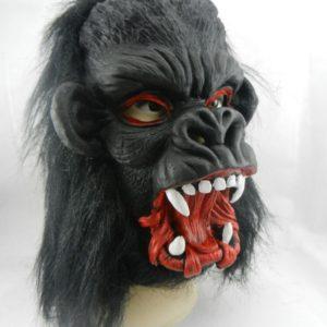 ANGRLY – masque de gorille noir pour adultes, accessoires d'halloween, robe de fête de carnaval, masque complet pour Cosplay, masque d'horreur 1