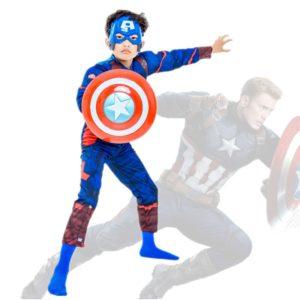 Combinaison cosplay captain america pour garçon, déguisement de super-héros avenger pour enfants, bouclier pour halloween, spectacle de masque fantaisie 1