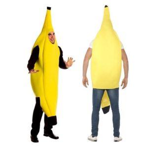 Costume banane jaune amusant pour adultes, robe de danse, fête fantaisie, Fruit d'halloween 1