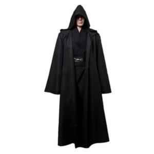 1 PC Nouveau Darth Vader Terry Jedi Noir Robe Jedi Knight À Capuche Manteau costume d'halloween Cape Pour Adulte 821003 1