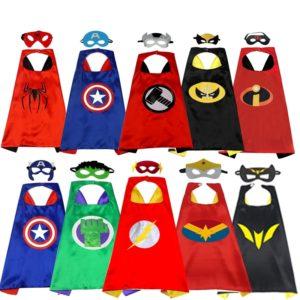 Cape de héros de dessin animé pour enfants, vente en gros, personnalisé, nouvelle cape Double spiderman d'halloween 1