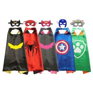 Capes de super-héros pour déguisement de fête d'anniversaire, Costumes d'halloween, Cosplay Anime pour enfants 1