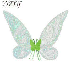 Ailes d'ange féerique pour femmes et filles, Costumes Cosplay de fête d'halloween, ailes de papillon, photographie de scène 1