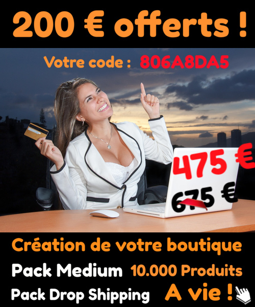 code réduction site en dropshipping