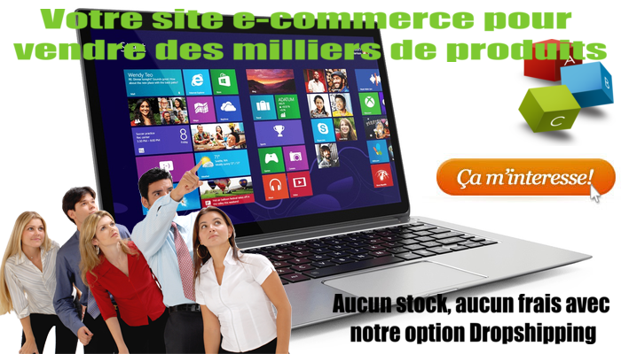 dropshipping création site